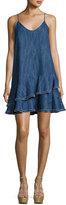 Alexis Evangeline Drop Waist Denim Dress, Blue