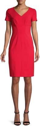 HUGO Kudera V-Neck Sheath Dress