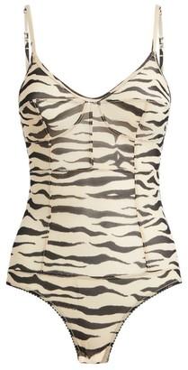 LOVE Stories Zebra Print Cece Bodysuit