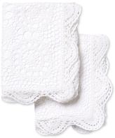 Melange Home Crochet Coverlet Standard Shams (Set of 2)