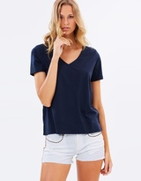 Maison Scotch Cuffed Short Sleeve Tee