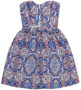 Parker Strapless Paisley Dress