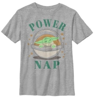 Fifth Sun Star Wars The Mandalorian Big Boys The Child Power Nap Short Sleeve T-shirt
