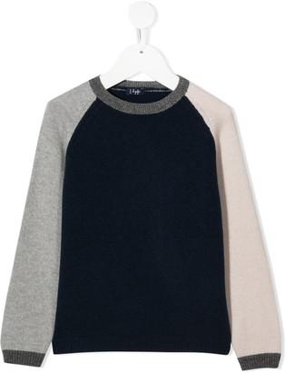 Il Gufo Colour-Block Fine Knit Jumper