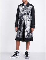Comme Des Garcons Checked-pvc Wool Coat
