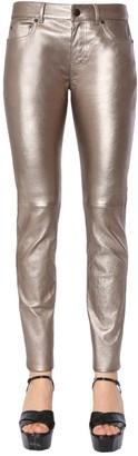 Saint Laurent Skinny Fit Metallic Pants