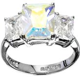Body Candy Sparkling Clear Trio Cocktail Ring Size 7