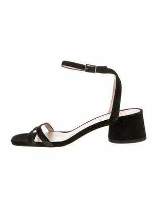 Marc Jacobs Suede Sandals Black