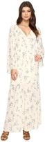 Brigitte Bailey Jody Long Sleeve Floral Print Maxi Dress Women's Dress