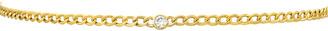 Zoe Lev Jewelry 14k Cuban-Link Diamond Bezel Necklace