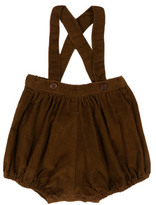 Caramel Wilton Ribbed Velvet Bloomers With Braces