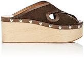 Isabel Marant Women's Zipla Suede Clog Sandals-Dark Brown