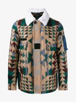 Valentino Virgin Wool Mohair-blend Navajo Jacket