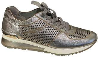 Michael Kors Silver Leather Trainers