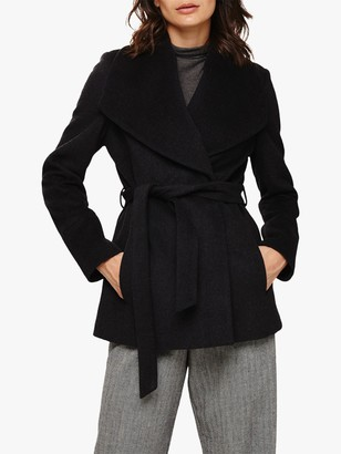 Phase Eight Nicci Short Coat, Charcoal Marl