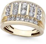Macy's Men's Diamond Elevated Cluster Ring (2 ct. t.w.) in 10k Gold