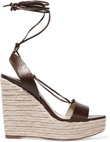 Michael Kors Clive leather wedge sandals