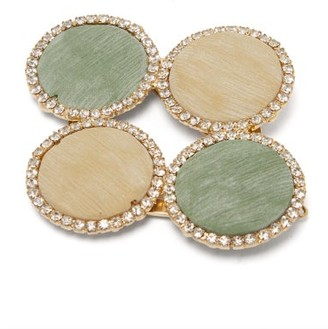 Rosantica Origine Crystal-embellished Twill Disc Hairclip - Multi
