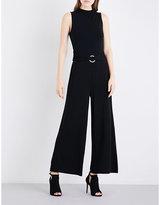 MICHAEL Michael Kors Ruched belt sleeveless stretch-crepe jumpsuit
