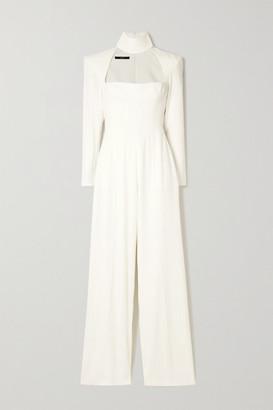 Alex Perry Morgan Cutout Crepe Jumpsuit - White