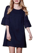 Yumi Plain Tunic Dress, Navy