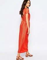 Sessun Open Back Maxi Dress in Red