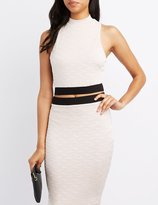 Charlotte Russe Textured Mock Neck Crop Top