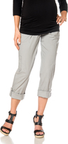 Motherhood Secret Fit Belly Poplin Cargo Maternity Pants