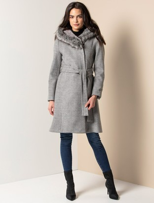Ever New Bianca Hooded Wrap Coat