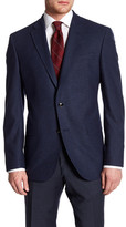 Ted Baker Jay Navy Birdseye Two Button Notch Lapel Wool Jacket