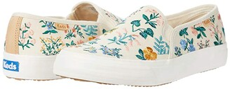 Keds Double Decker Wildflower Embroidered (Natural Embroidered Canvas) Women's Shoes