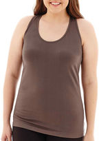 JCPenney City Streets Seamless Racerback Tank Top - Juniors Plus