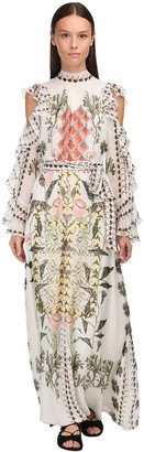 Temperley London Printed Muslin Long Dress
