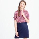 J.Crew Ruffle popover shirt in Liberty Art Fabrics Wiltshire print