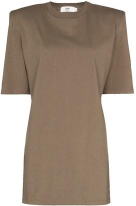 Frankie Shop Sean padded shoulder T-shirt dress