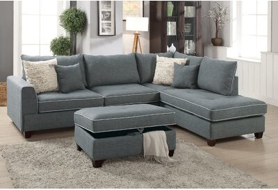 Peachy Foundry Modern Farmhouse Malta Reversible Sectional With Ottoman Foundry Modern Farmhouse Gmtry Best Dining Table And Chair Ideas Images Gmtryco