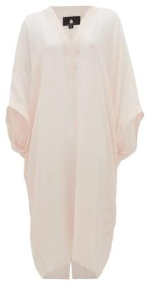 SU PARIS Bahia Striped Cotton-gauze Kaftan - Light Pink