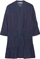 Melissa Odabash Nicole crochet-trimmed voile mini dress