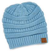 Denim Fleece-Lined Knit Beanie