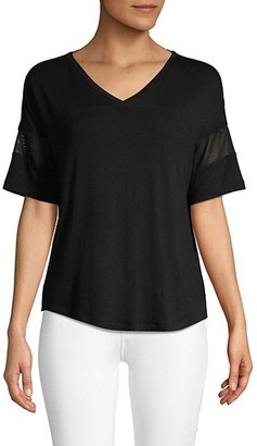 Andrew Marc V-Neck High-Low Tee