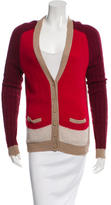 Sandro Colorblock Rib Knit Cardigan