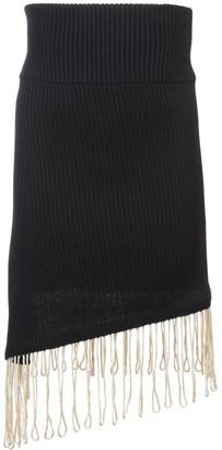 Calvin Klein asymmetric fringed skirt
