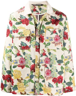 Palm Angels Floral Brocade Chore Jacket