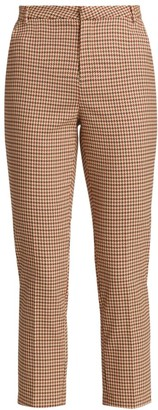 L'Agence Ludivine Plaid Cropped Trousers