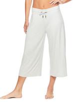 Gaiam Women's Active Pants GREY - Heather Gray 20'' Wide-Leg Addy Yoga Culottes - Women