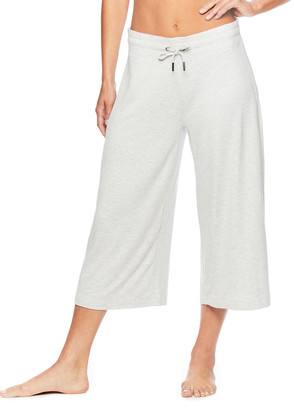 Gaiam Women's Active Pants GREY - Heather Gray 20'' Wide-Leg Addy Yoga Culottes - Women