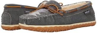 Minnetonka Tilia (Grey Suede/Fabric) Women's Shoes