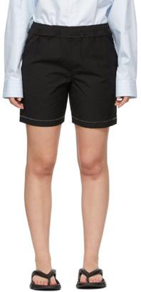 Ader Error Black Distressed Shorts