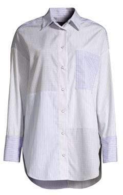 Piazza Sempione Patchwork Stripe Cotton Shirt