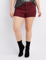 Charlotte Russe Plus Size Refuge Hi-Waist Shortie Denim Shorts